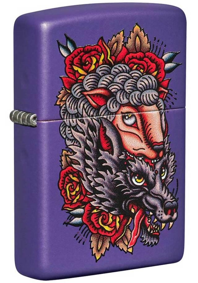 Zippo ジッポー Wolf Design 49413 メール便可