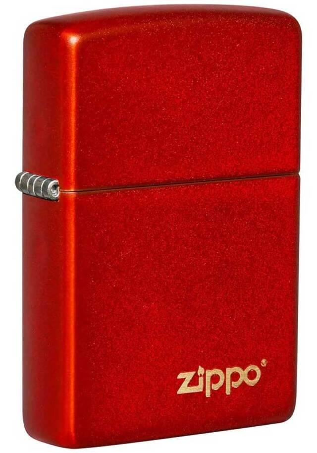Zippo ジッポー Metallic Red Matte w Zippo 49475ZL メール便可