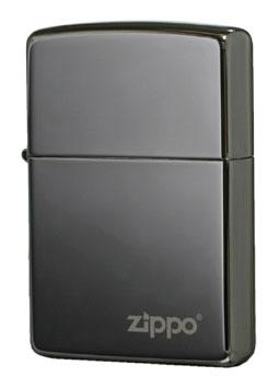 Zippo ジッポー ブラックアイス ロゴ 150ZL メール便可