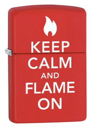 Zippo ジッポー Keep calm and flame on 28671