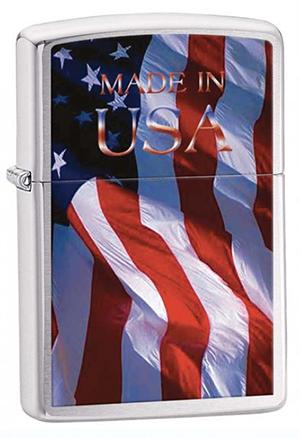 Zippo ジッポー Made in USA Flag 24797 メール便可