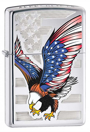 Zippo ジッポー American Eagle, Top Stamp 28449 メール便可