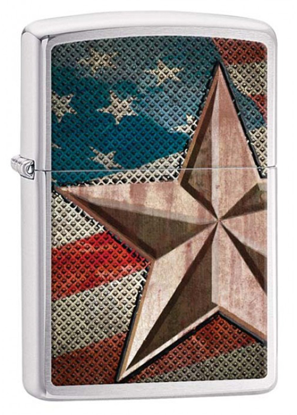 Zippo ジッポー Retro Star and Flag 28653 メール便可