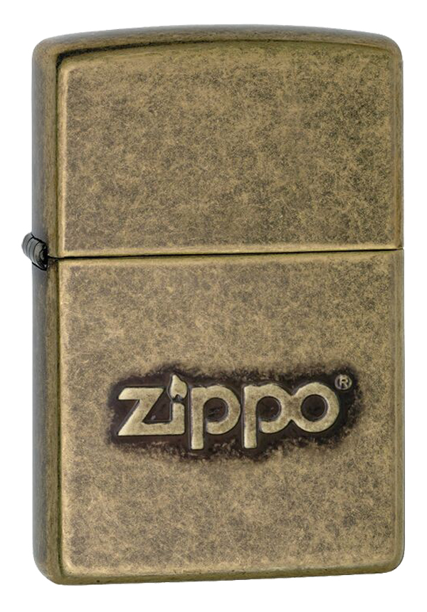 Zippo ジッポー Stamped Zippo Logo Antique Brass 28994 メール便可