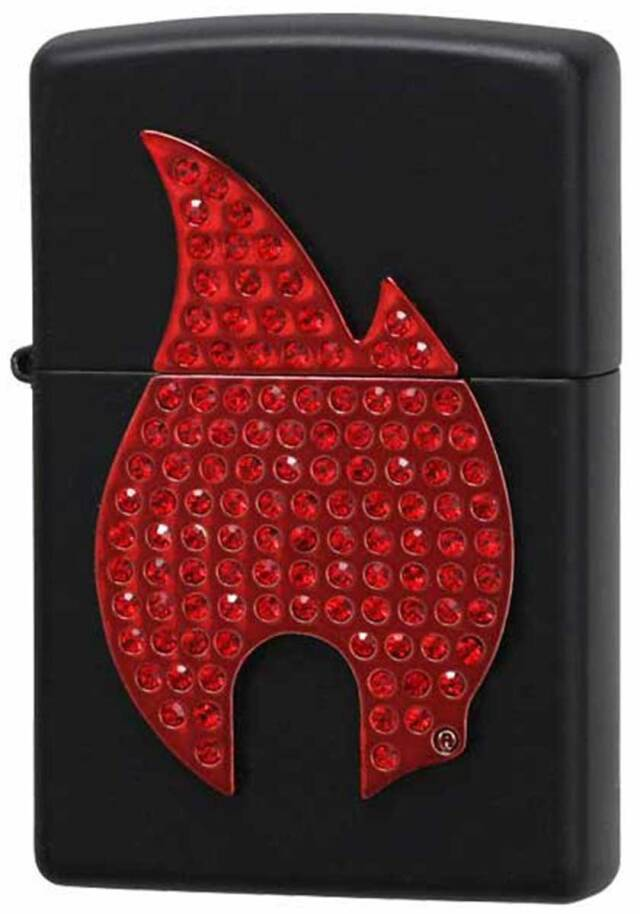 Zippo ジッポー Flame Emblem with Red Crystals 29106