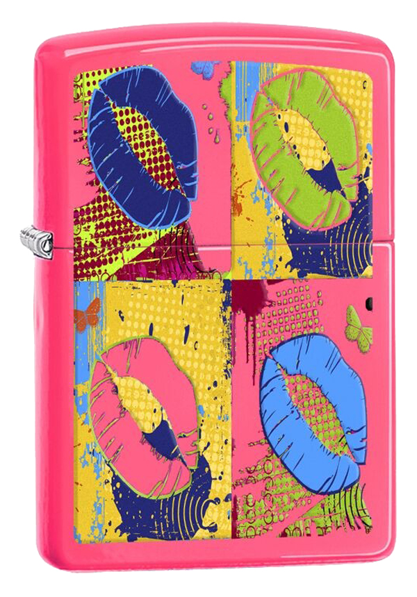 Zippo ジッポー Pop Art Lips Neon Pink 29086