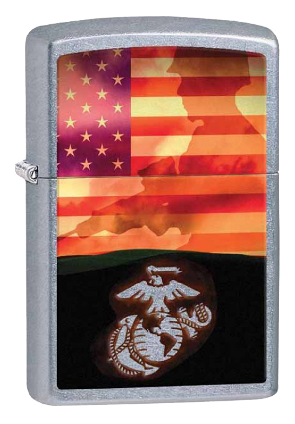 Zippo ジッポー US Marine Corps USMC Soldier and Flag 29123 メール便可