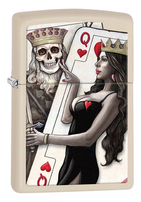 Zippo ジッポー Skull King Queen Beauty 29393 メール便可