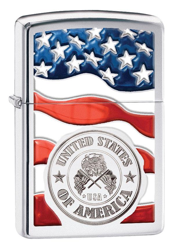 Zippo ジッポー American Stamp on Flag 29395 メール便可