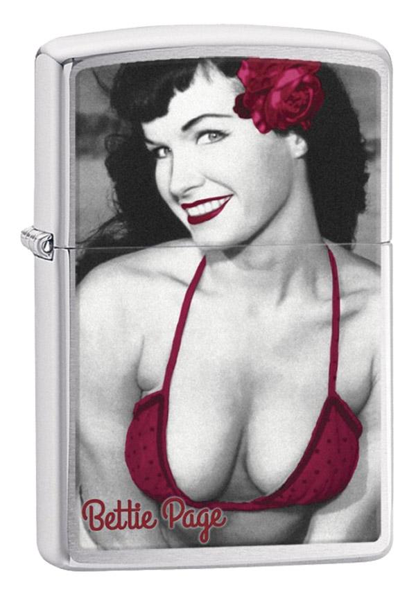 Zippo ジッポー Bettie Page Red Bikini ベティ・ペイジ 29439 メール便可