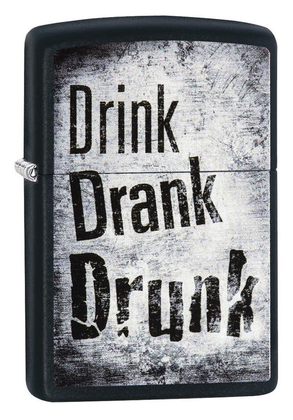 Zippo ジッポー Drink, Drank, Drunk 29618