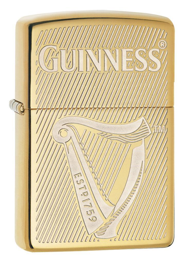 Zippo ジッポー Guiness Beer Engraved Harp 29651 メール便可