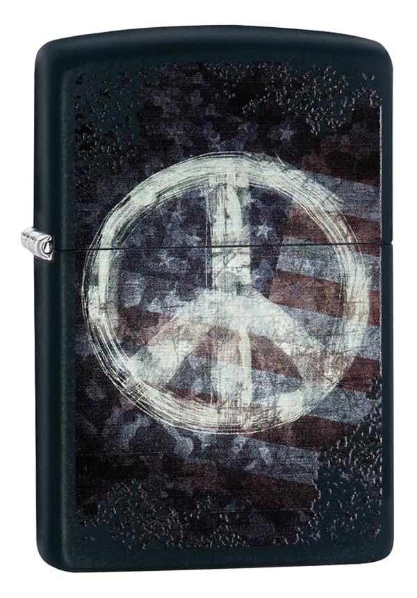Zippo ジッポー Peace on Flag ピースマーク&アメリカ国旗 28864 メール便可