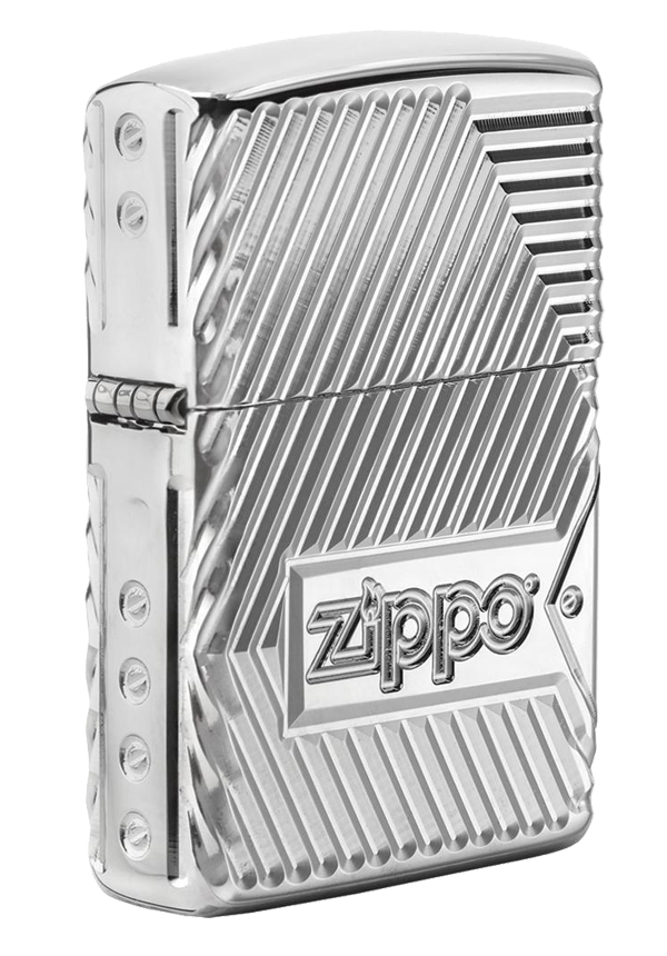 Zippo ジッポー アーマー BOLTS DESIGN Armor 360°Multi Cut Engraving 29672