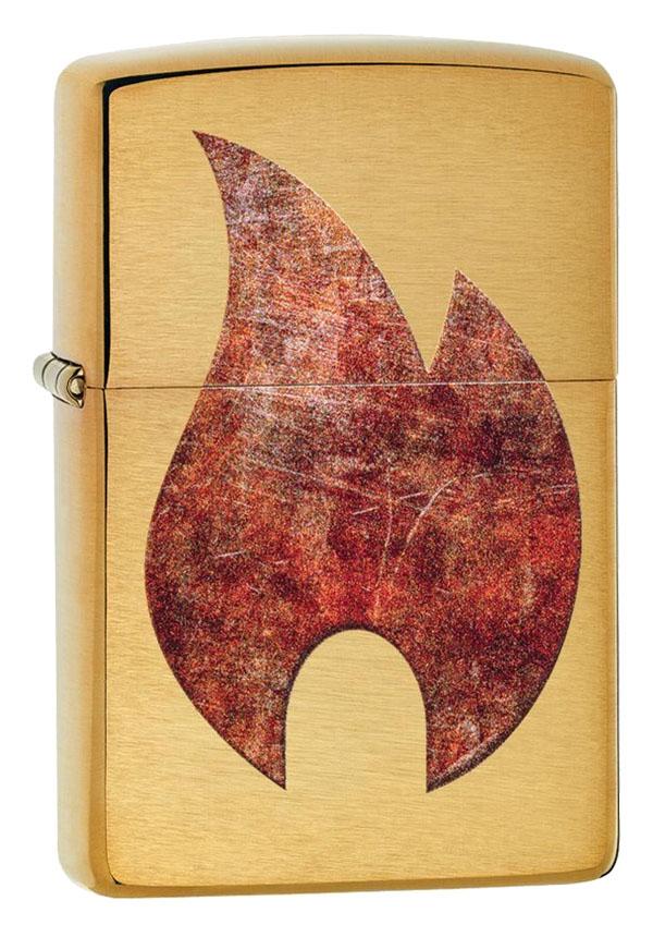 Zippo ジッポー Rusted Zippo Flame 29878 メール便可