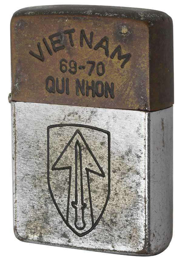 Zippo ジッポー 【中古】ベトナムZIPPO 1971年製造 QUI NHON 69-70