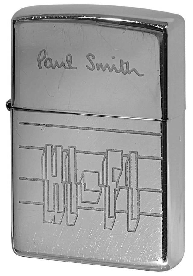 Zippo ジッポー 中古・Paul Smith ポール・スミス 箱なし 保証書なし 傷あり 1999年製造  HI・FI メール便可