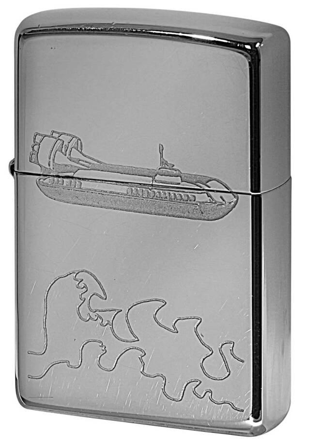 Zippo ジッポー 中古・Paul Smith ポール・スミス 箱なし 保証書なし 傷あり 2000年製造  潜水艦 メール便可