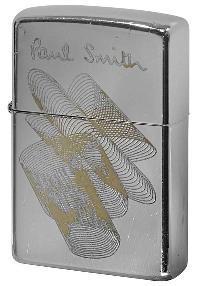 Zippo ジッポー 中古・Paul Smith ポール・スミス 箱なし 保証書なし 傷あり 2000年製造  幾何学模様 メール便可