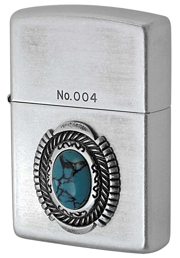 Zippo ジッポー Turquoise Style ターコイズスタイル イミテーションストーン ナンバー付き メール便可