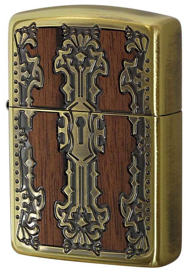 Zippo ジッポー Keyhole Wood Inlay キーホールウッドインレイ BS 2-51a 真鍮 メール便可