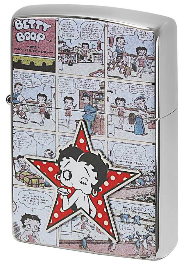 Zippo ジッポー Betty Boop ベティ・ブープ 90周年記念モデル COMIC 70673 メール便可