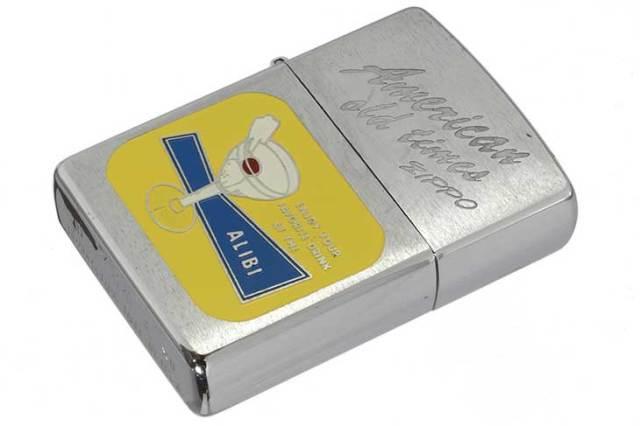 Zippo ジッポー 絶版・1996年製造 American old times ALIBI メール便可
