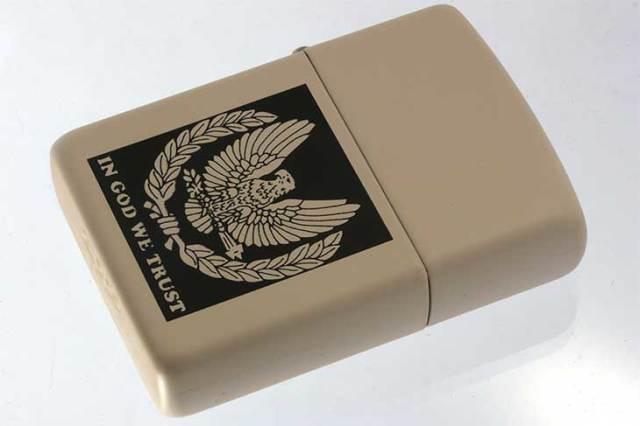 Zippo ジッポー 絶版・1995年製造 クリームマットベース アメリカンイーグル AMERICAN EAGLE メール便可