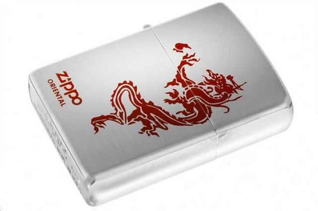 Zippo ジッポー 絶版・2000年製造 ORIENTAL Dragon サテン