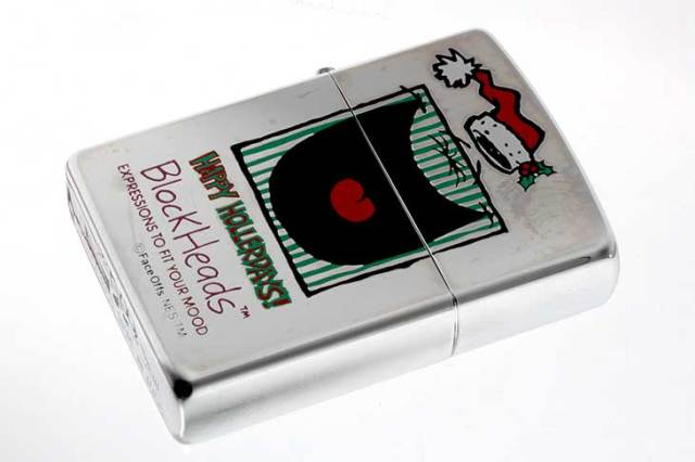 Zippo ジッポー 絶版・1997年製造 Block Heads FACE OFFS EXPRESSIONS TO FIT YOUR MOOD HAPPY HOLLERDAYS!