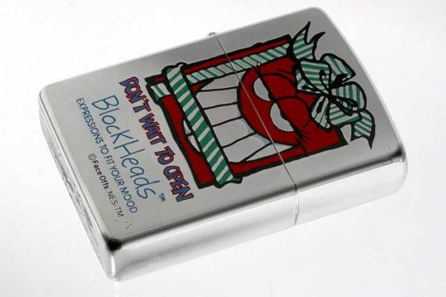 Zippo ジッポー 絶版・1997年製造 Block Heads FACE OFFS EXPRESSIONS TO FIT YOUR MOOD DON'T WAIT TO OPEN