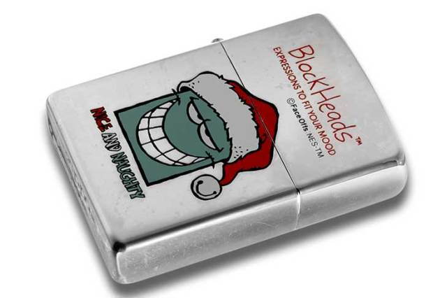 Zippo ジッポー 絶版・1997年製造 Block Heads FACE OFFS EXPRESSIONS TO FIT YOUR MOOD NICE AND NAUGHTY