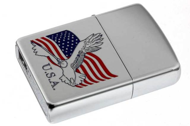 Zippo ジッポー 絶版・2005年製造 AMERICAN EAGLE 国旗