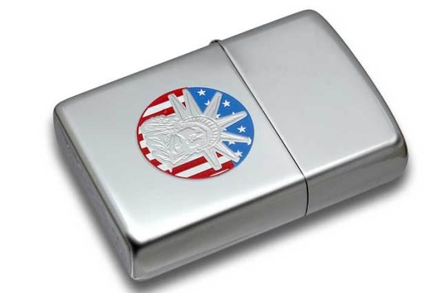 Zippo ジッポー 絶版・2003年製造 自由の女神 アメリカ国旗背景