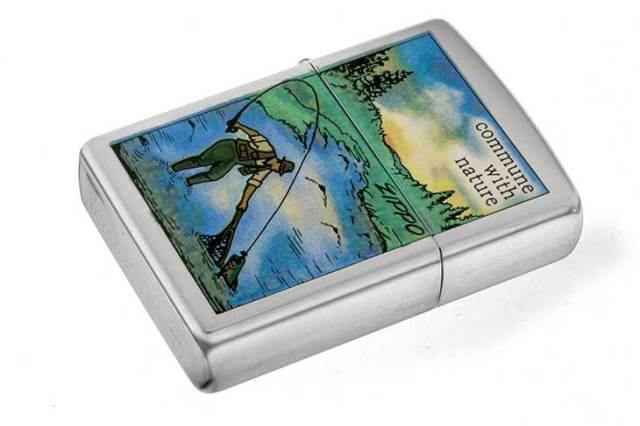 Zippo ジッポー 絶版・1996年製造 Commune With Nature Fishing