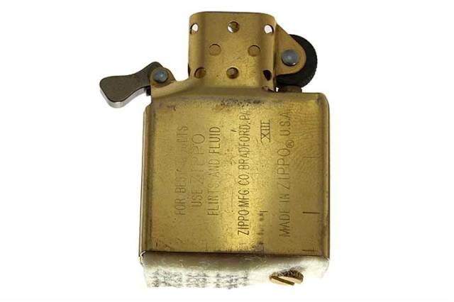 Zippo ジッポー 絶版・1997年製造 インサイドユニット ゴールド