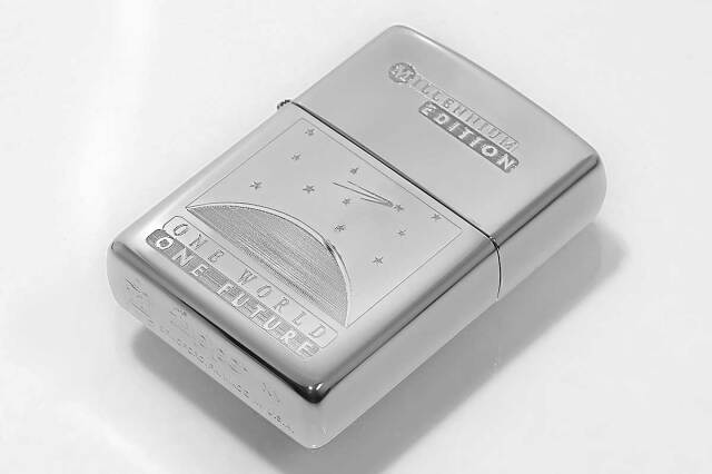 Zippo ジッポー 絶版・1999年製造 MILLENNIUM EDITION ONE WORLD ONE FUTURE TITANIUM COATED