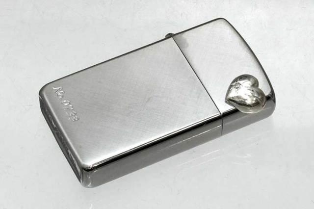 Zippo ジッポー 絶版・2002~2005年製造 Heart ornament 16SHD-P クロス