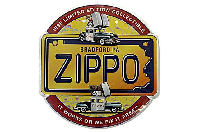 Zippo ジッポー 訳あり 凹みあり METAL PLATE エンボスプレートブリキ製 ZMP-3