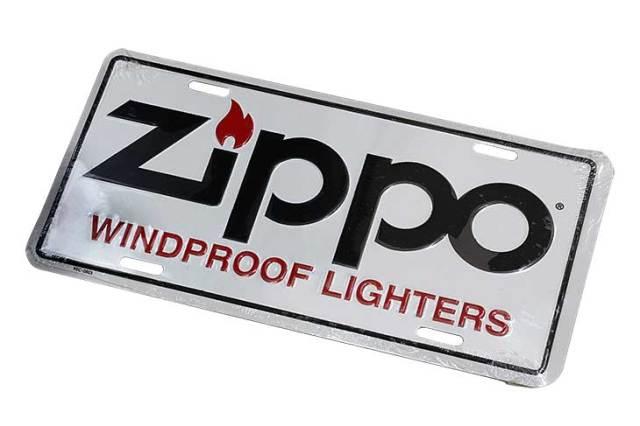 Zippo ジッポー 絶版 WINDPROOF LIGHTERS ライセンスプレート ホワイト 歪みあり 95C-0803