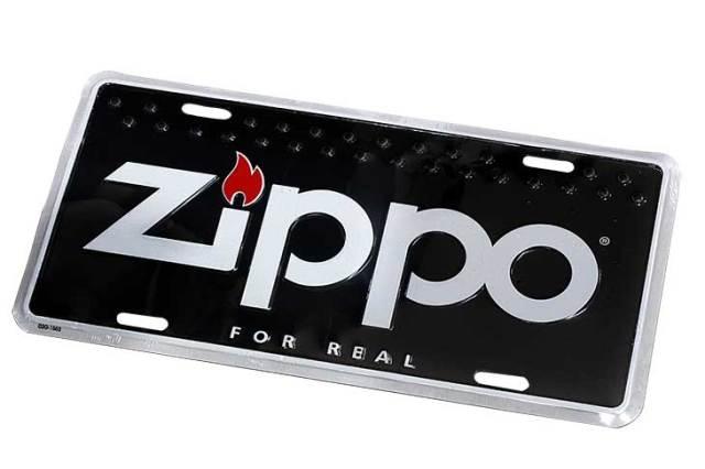 Zippo ジッポー 絶版 FOR REAL ライセンスプレート ブラック 歪みあり 02G-1553