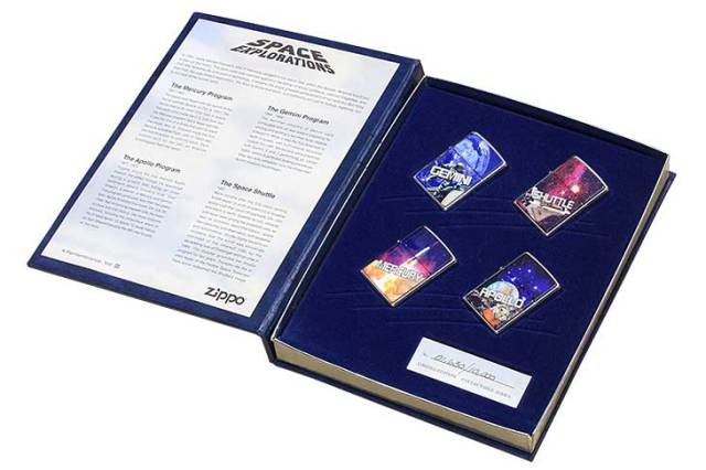 Zippo ジッポー 絶版・1997年製造 SPACE EXPLORATIONS A COLLECTABLE SERIES 宇宙探査記念シリーズ No.3 世界限定10,000個 4個セット No.01630