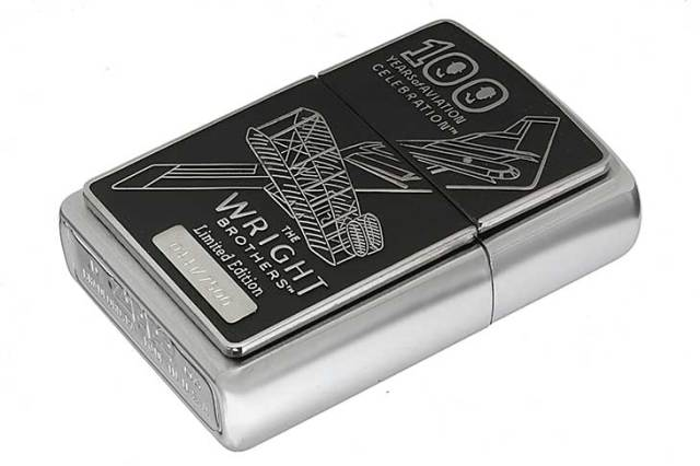 Zippo ジッポー 絶版・2003年製造 限定7,500個生産 THE WRIGHT BROTHERS 100years LIMITED ライト兄弟 Np.0441