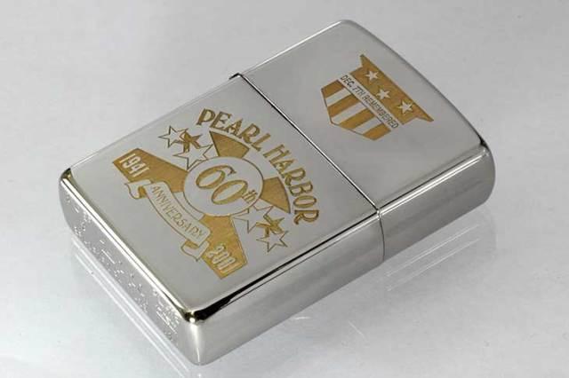 Zippo ジッポー 絶版・2000年製造 限定12,000個生産 パールハーバー 60周年記念 Silver Plate No.5543
