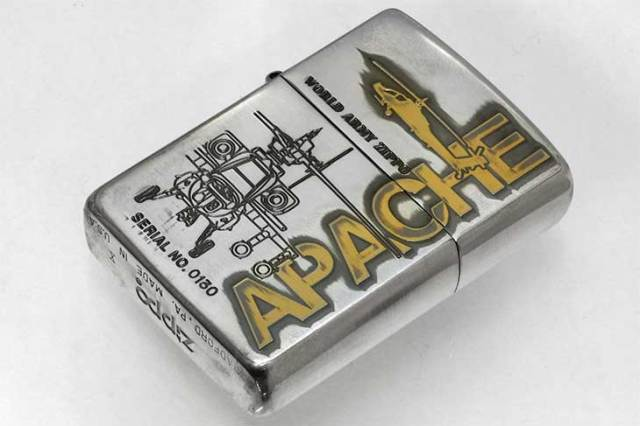 Zippo ジッポー 絶版・1994年製造 WORLD ARMY Series LIMITED EDITION APACHE No.0130