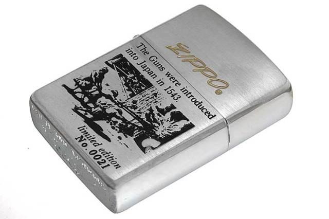 Zippo ジッポー 絶版・1993年製造 鉄砲伝来シリーズ オイルケース付き Limited Edition No.0021