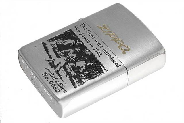 Zippo ジッポー 絶版・1993年製造 鉄砲伝来シリーズ オイルケース付き Limited Edition No.0052