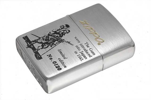Zippo ジッポー 絶版・1993年製造 鉄砲伝来シリーズ オイルケース付き Limited Edition No.0120