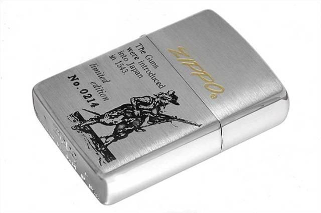 Zippo ジッポー 絶版・1993年製造 鉄砲伝来シリーズ オイルケース付き Limited Edition No.0214