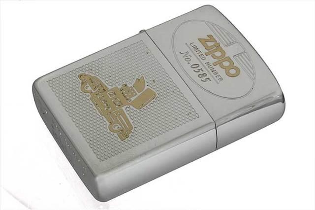Zippo ジッポー 絶版・1995年製造 Zippo Car LIMITED 携帯灰皿付き No.0585